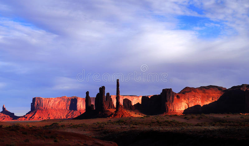 Dawn in Mystery Valley stock photography