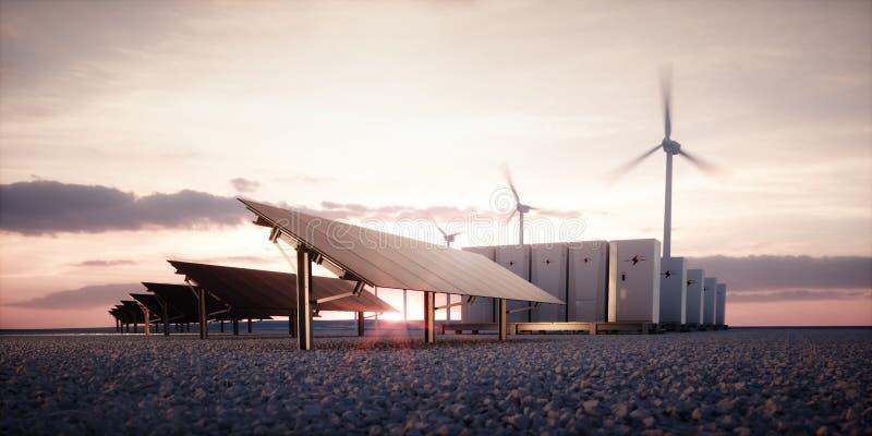 Dawn of new renewable energy technologies. royalty free illustration