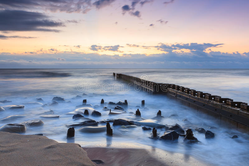 Dawn Ocean Landscape Outer Banks North Carolina arkivfoto