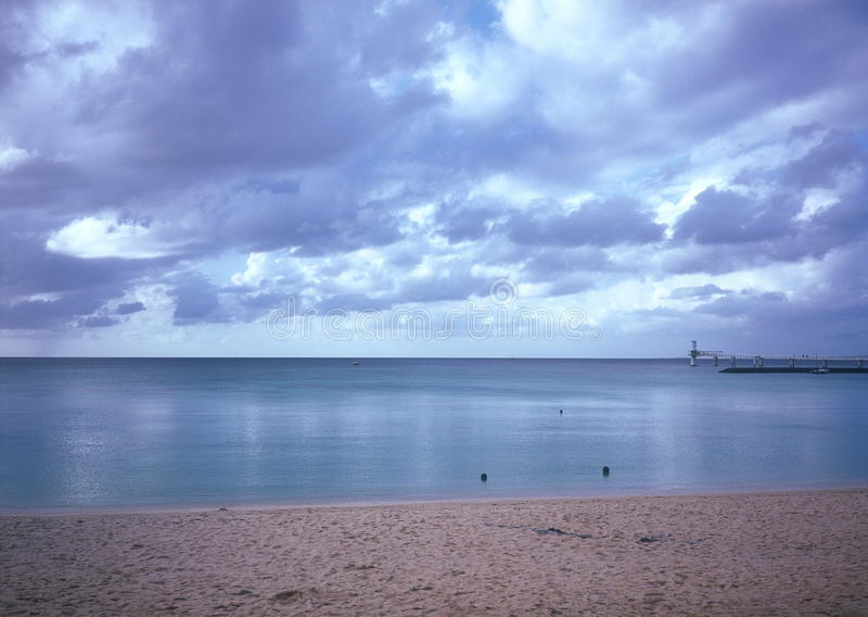 Dawn in Okinawa Cape Busena stock fotografie
