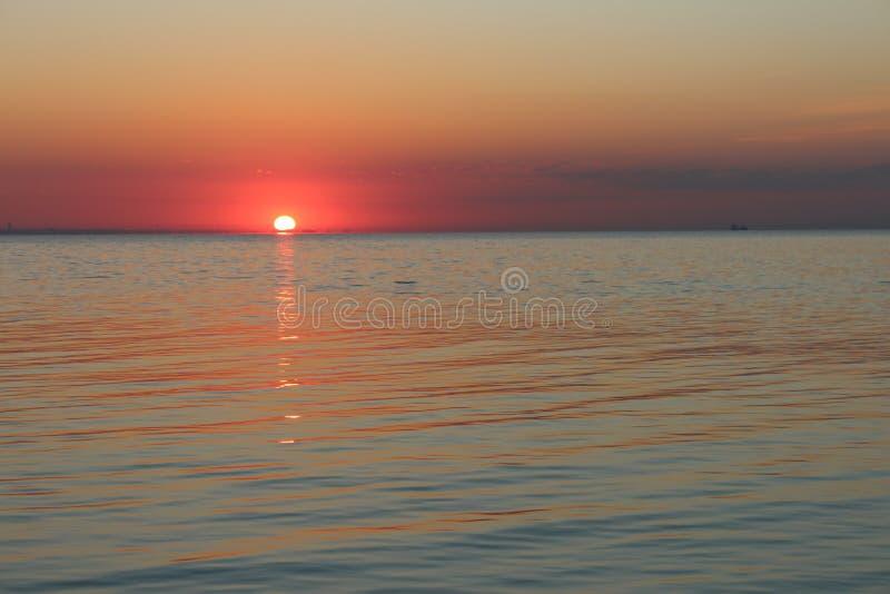 Dawn op de Zwarte Zee stock foto's