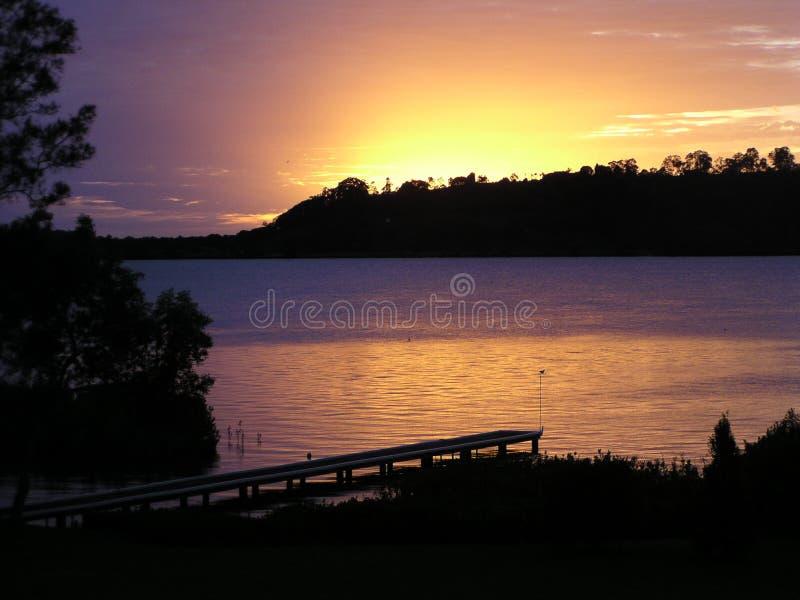 Dawn op Rivier 2 stock foto's