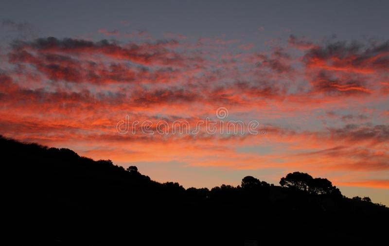 Dawn Over the Hills of Palos Verdes, California royalty free stock photo