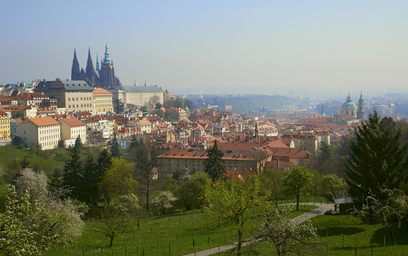 Dawn Over Prague Royalty Free Stock Images