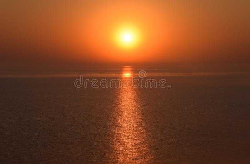 Dawn over the sea. Sea of Azov. Sunrise royalty free stock images