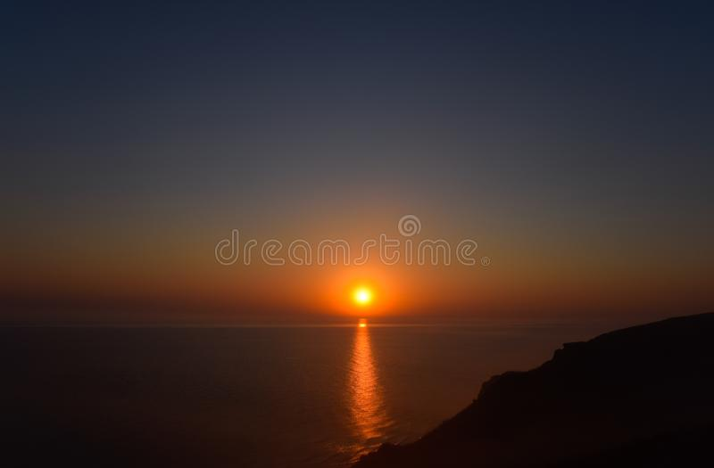 Dawn over the sea. Sea of Azov. Sunrise royalty free stock photography
