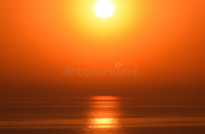 Dawn over the sea. Sea of Azov. Sunrise stock images