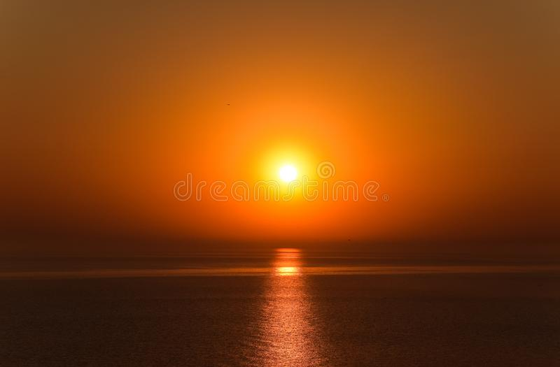Dawn over the sea. Sea of Azov. Sunrise royalty free stock photos