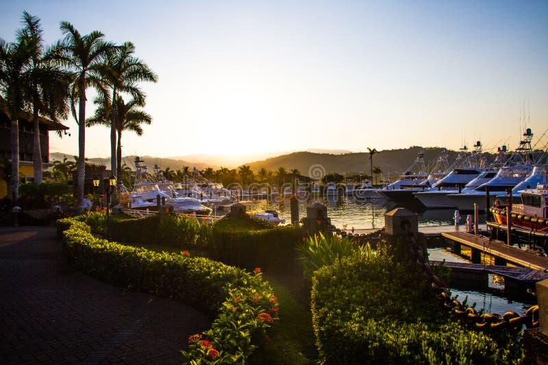 Dawn Patrol. Dawn in Los Suenos Resort and Marina in Herradura, Costa Rica stock photos
