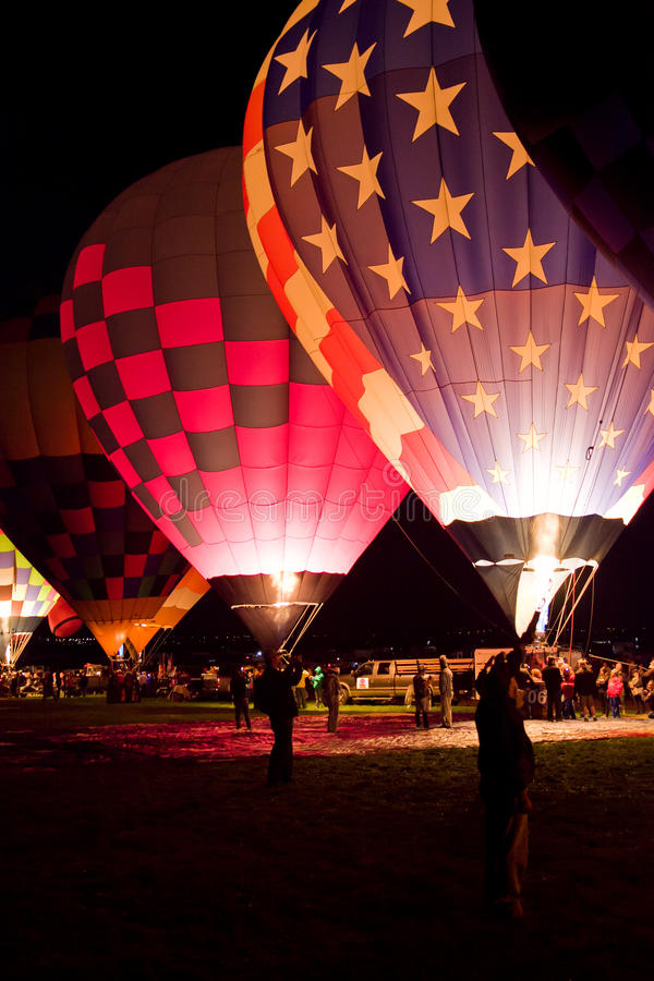 Dawn Patrol på den Albuquerque ballongfiestaen 2015 arkivfoto