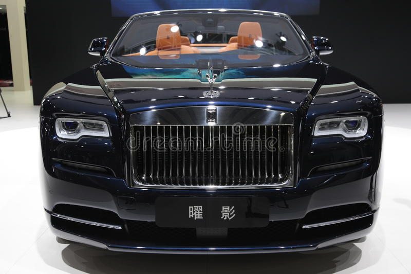 Dawn of the Rolls-Royce royalty free stock images