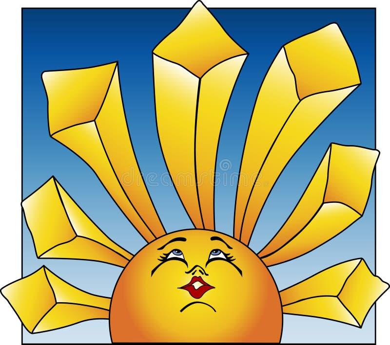 dawn, słońce royalty ilustracja