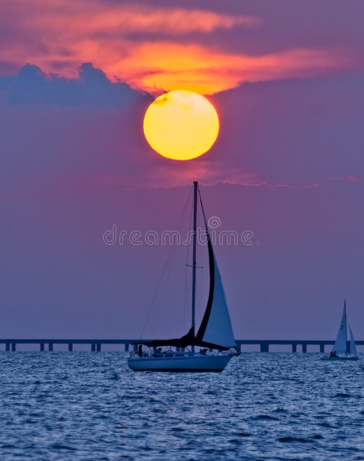 Download Dawn Sailboat stock image. Image of glowing, colorful - 10567211