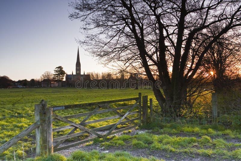 Dawn In Salisbury Royalty-vrije Stock Fotografie