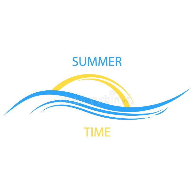 Dawn on sea. Sun icon. Travel agency emblem concept, vector logo template. eps 10. Dawn on sea. Sun icon. Travel agency emblem concept, vector logo template stock images