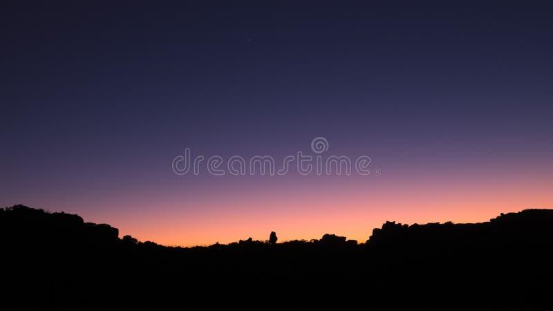 Dawn Silhouette image libre de droits