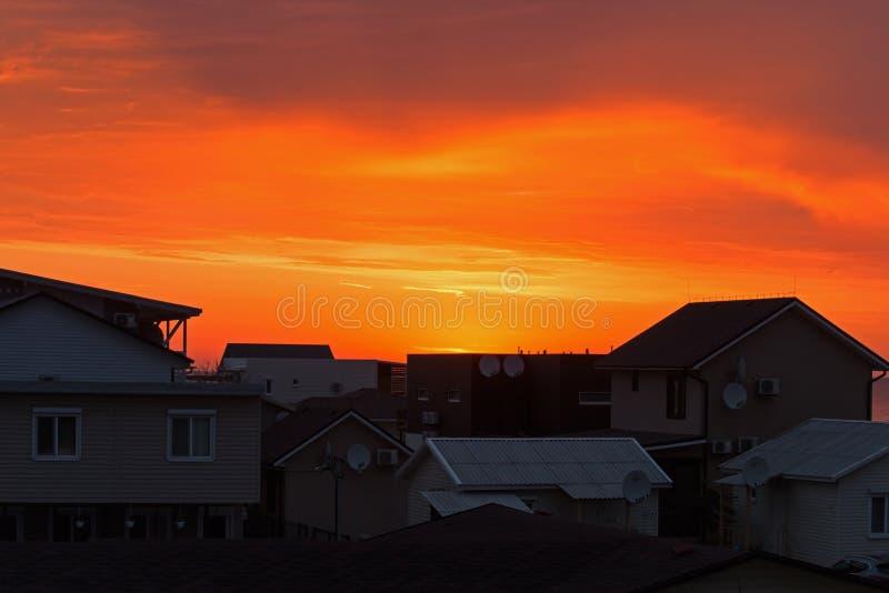 Dawn silhouette stock photos