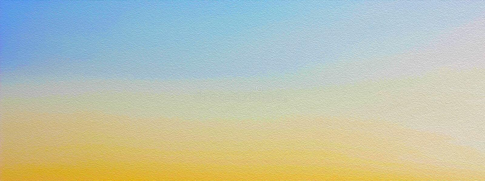 Dawn sky in golden tones, background in blue and yellow colors, stylized painting. stock photo