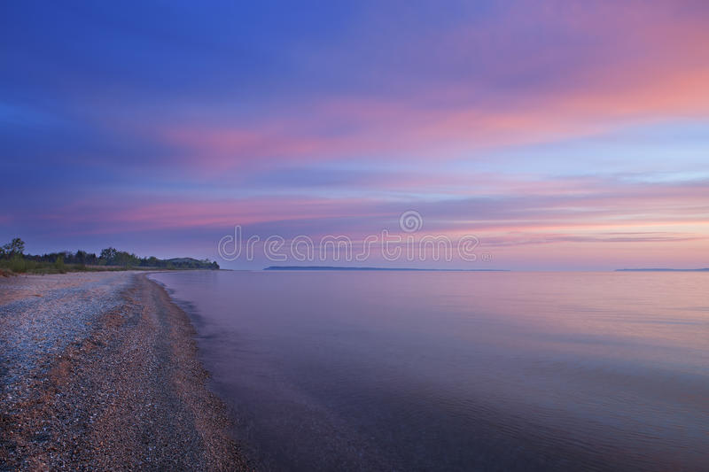 Dawn Sleeping Bear Bay images stock