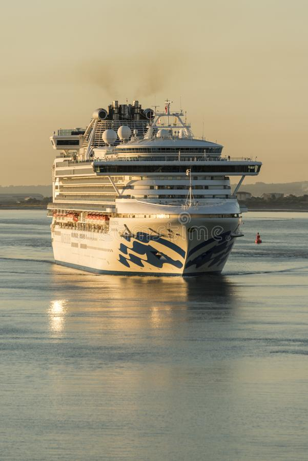 Dawn arrivals in Southampton royalty free stock photography