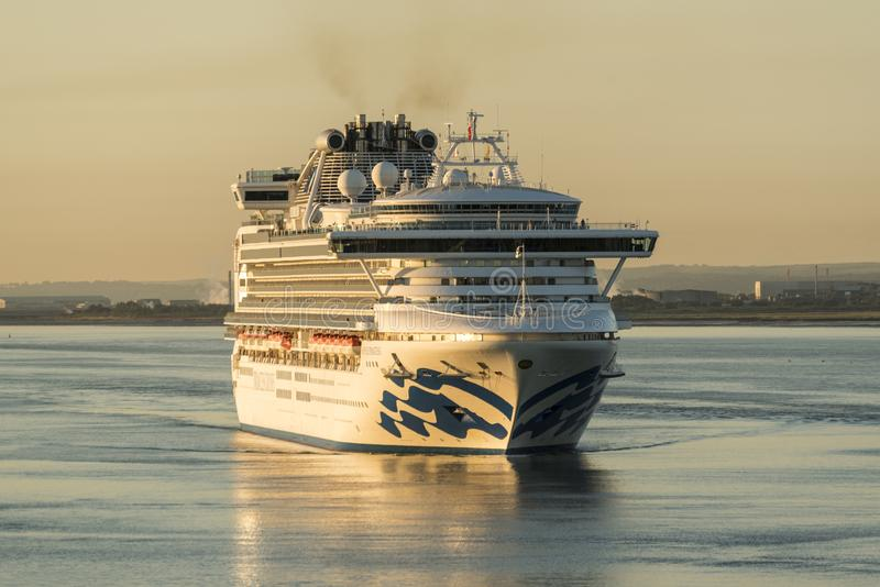 Dawn arrivals in Southampton stock images