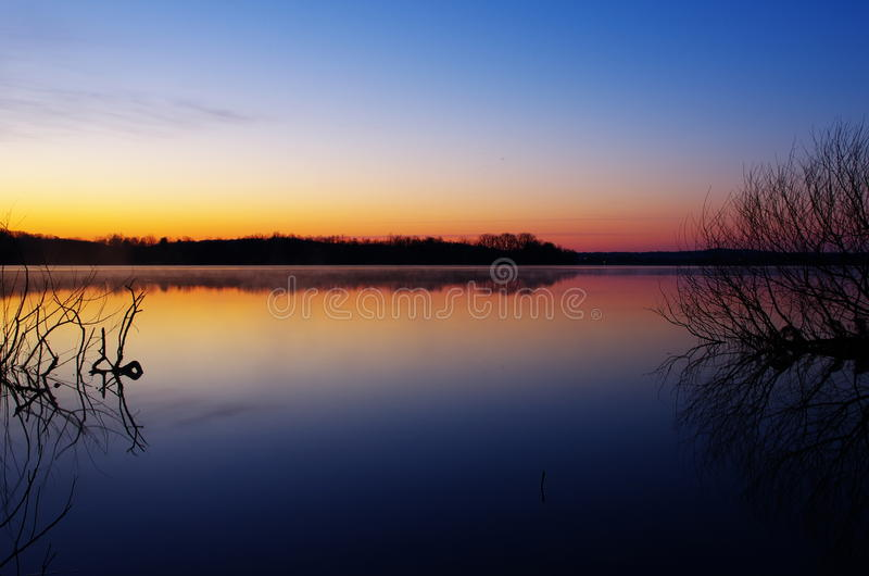 Download Dawn At Spruce Run Reservoir Stock Image - Image: 30911831