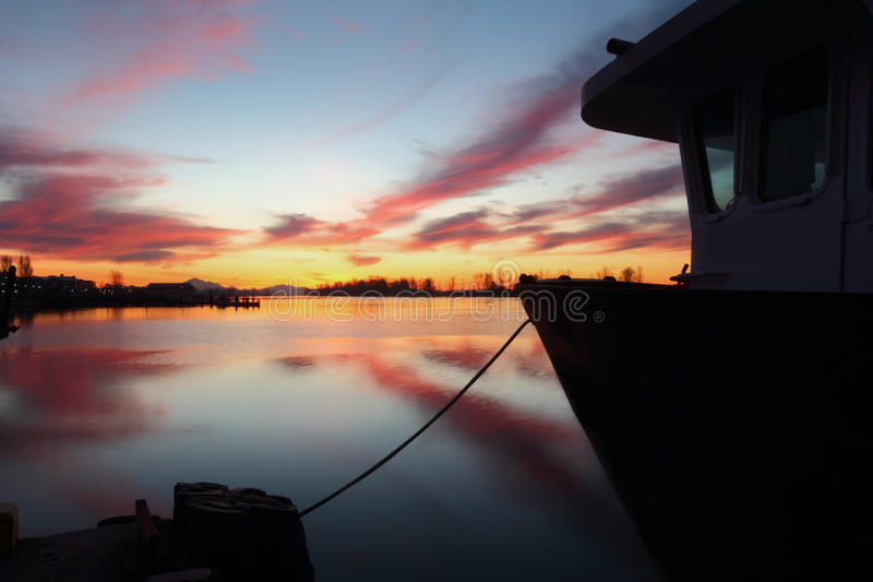 Dockside Harbor Morning, Steveston stock image