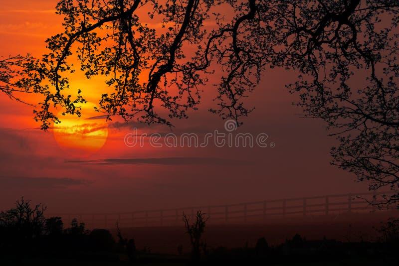 Dawn - Sunrise - North Yorkshire - England stock photography