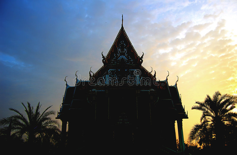 Dawn temple royalty free stock photography