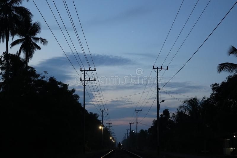 Dawn vóór zonsopgang royalty-vrije stock afbeeldingen