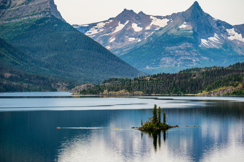 Dawn At Wild Goose Island in Montana stock photo