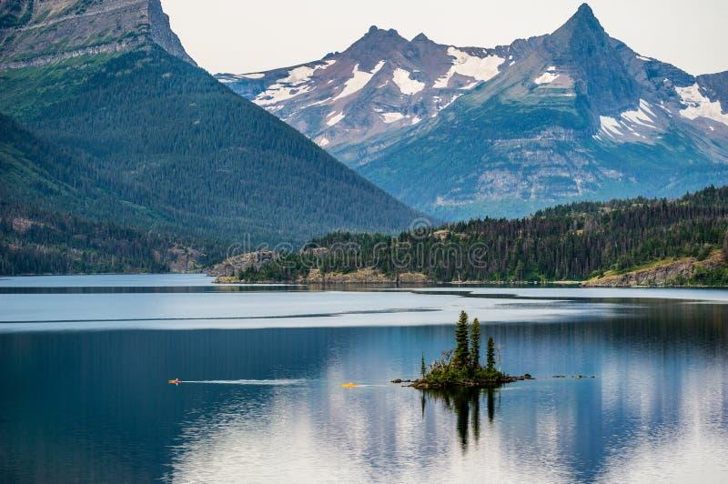Dawn At Wild Goose Island nel Montana fotografia stock