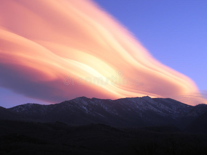 Dawning in mountain. N Cremea royalty free stock photography