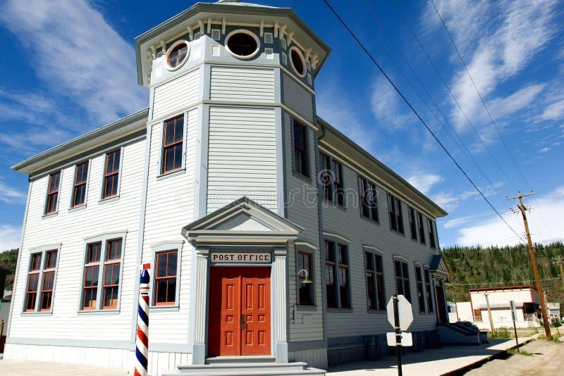 Dawson city post office stock photography