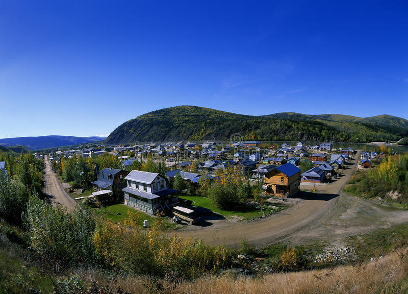 Dawson City. SEPT. 1: Famous city from Gold Rush era stock images