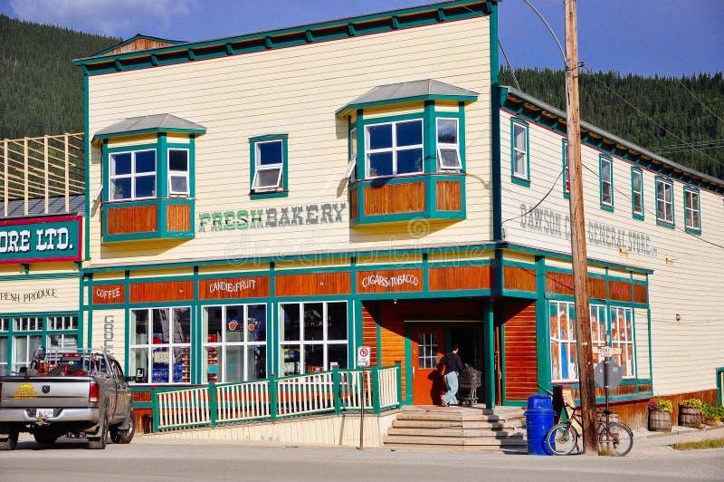 The fresh bakery in Dawson City, Yukon. Dawson City, Yukon is the heart of the world-famous Klondike Gold Rush royalty free stock photos