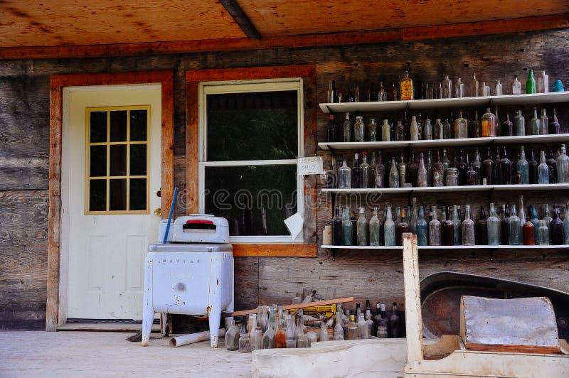 A rustic building near Dawson City, Yukon. royalty free stock photos