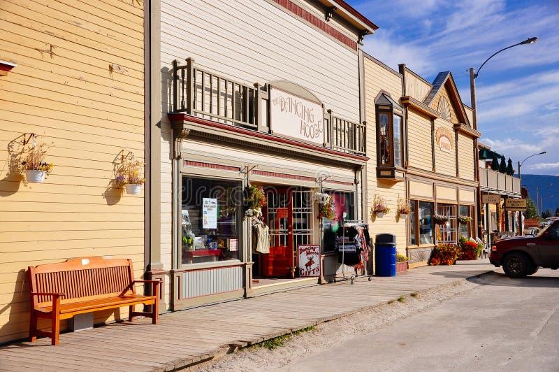 The streets of Dawson City, Yukon. Dawson City, Yukon is the heart of the world-famous Klondike Gold Rush stock images