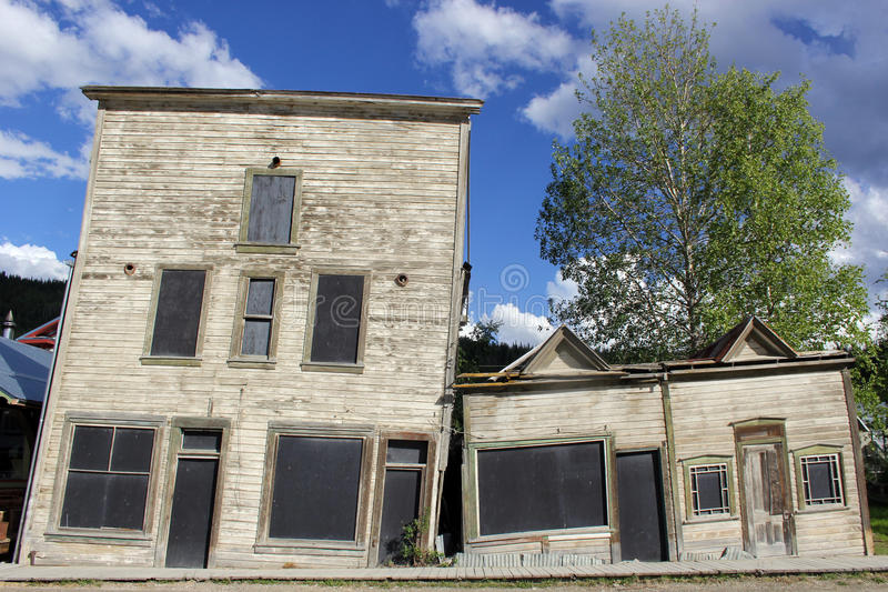Dawson City, Yukon. Northern Canada stock images