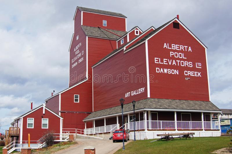 Dawson Creek, British Columbia, Canada Elevators. Dawson Creek, British Columbia, Canada Restored Alberta Pool Elevators and museum. This is the only one left royalty free stock images
