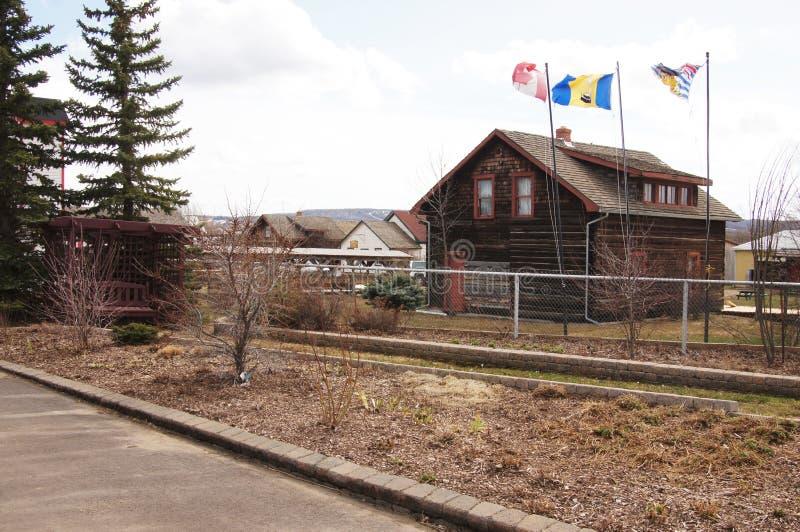 Dawson Creek, Columbia Britânica, milha 0 de Canadá foto de stock