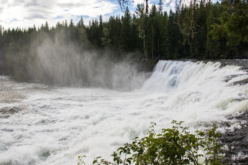 Dawson Falls, Murtle River, Wells Gray Provincial Park, British Columbia, Canada. royalty free stock photo