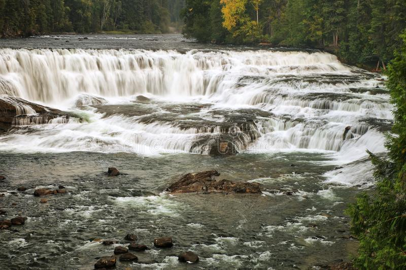 Dawson Falls on the Murtle River in Wells Gray Provincial Park, British Columbia, Canada stock images