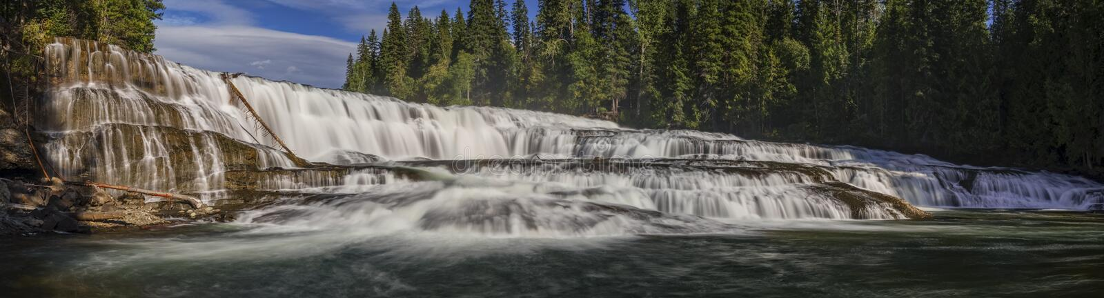 Dawson Falls, Wells Gray Provincial Park, near Clearwater, British Columbia, Canada, Panorama stock image