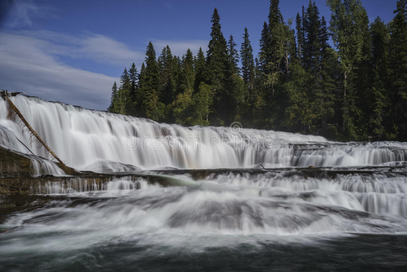 Dawson Falls, Wells Gray Provincial Park, near Clearwater, British Columbia, Canada stock photos