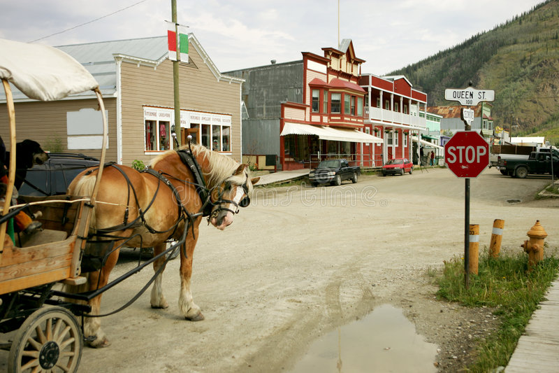 Dawson Stadt stockfoto