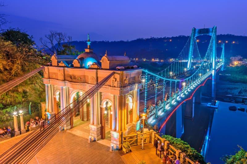 Daxi bro, Taiwan royaltyfria bilder