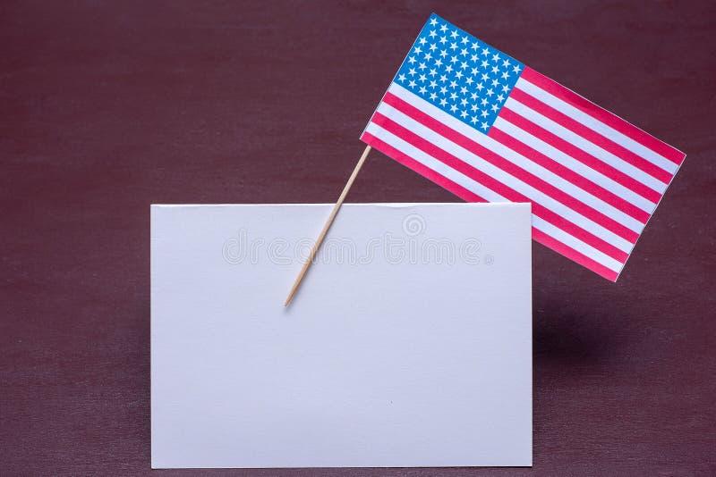 Day总统的庆祝的贺卡在美国,退伍军人日,美国独立日 库存图片
