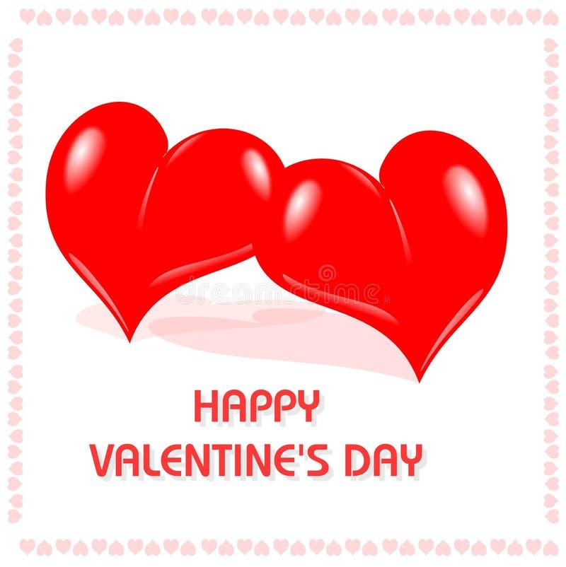 Day#3 van de gelukkige Valentijnskaart royalty-vrije illustratie