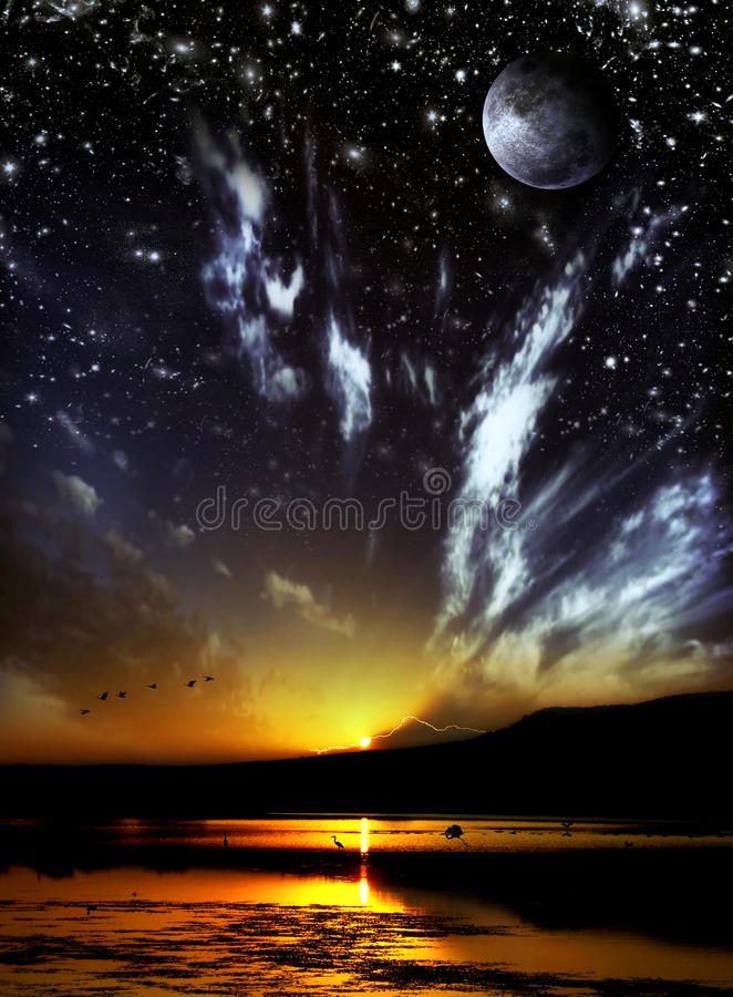 Free Day And Night Concept Royalty Free Stock Photos - 12020208